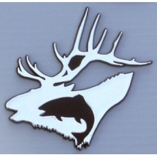 Hunt and Fish Chrome Emblem