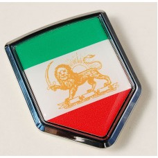 Iran Iranian Flag Crest Chrome Emblem Decal Sticker
