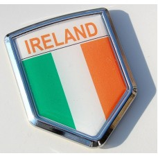 Ireland Decal Irish Flag Crest Chrome Emblem Sticker