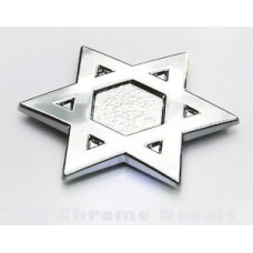 Israel Davids Star Jewish Car 3D chrome decal sticker