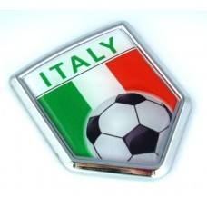 Italy Soccer Crest 3D Adhesive Auto Emblem