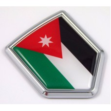 Jordan 3D Chrome Flag Crest Emblem Car Decal