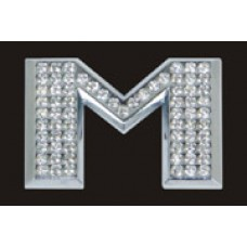 Chrome Letter Style Crystal - M