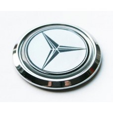 Mercedes Benz ROUND Car Chrome Emblem Decal Domed Sticker