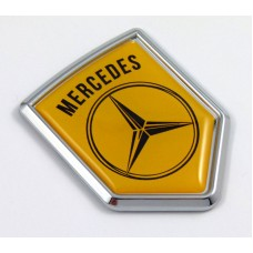 Mercedes CREST 3D adhesive chrome car emblem