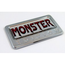 Monster Edition 3D Chrome Auto Emblem