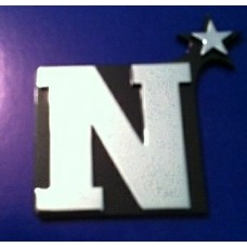 N with Star Triple Chrome Plated Adhesive ABS Emblem