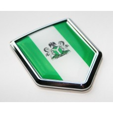Nigeria Nigerian Flag Decal Crest Chrome Emblem Sticker
