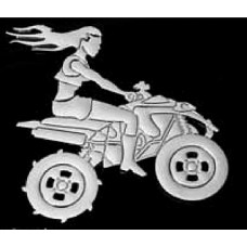 OFF ROAD Girl on Quad Chrome Emblem