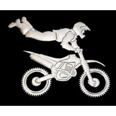 OFF ROAD Guy on Bike Chrome Emblem
