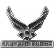 Air Force Wings Logo Triple Chrome Plated ABS Emblem