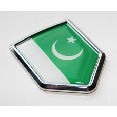 Pakistan Pakistani Flag Decal Crest Chrome Emblem Sticker