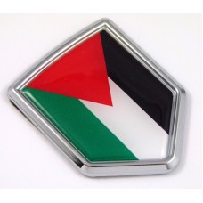Palestine 3D Chrome Flag Crest Emblem Car Decal