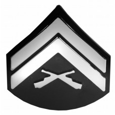 Patch - Corporal Triple Chrome Plated Adhesive ABS Emblem