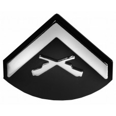 Patch - Lance Corporal Triple Chrome Plated Adhesive ABS Emblem
