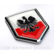 Poland Polski Polish Flag Emblem Crest Chrome Decal