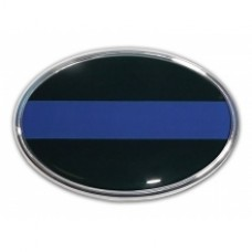 Police Oval 3D Chrome Emblem Car Decal