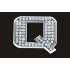 Chrome Letter Style Crystal - Q