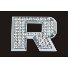 Chrome Letter Style Crystal - R