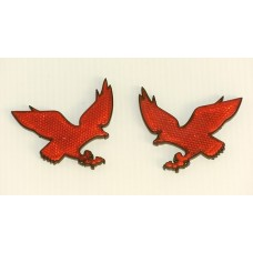 Reflective EAGLE Red Emblems PAIR