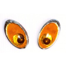 Reflective EYES Amber Emblems PAIR