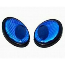Reflective EYES Blue Emblems PAIR