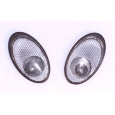 Reflective EYES Silver Emblems PAIR