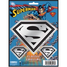 Superman Embossed Chrome Decals