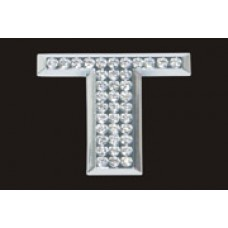 Chrome Letter Style Crystal - T