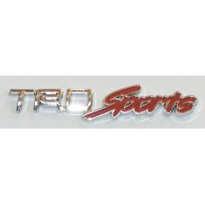 TRD Sports Chrome with Red Emblems - PAIR