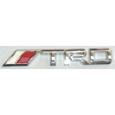 TRD Chrome Red and White Emblems - PAIR