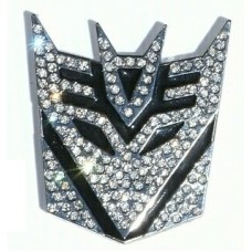 Transformer BLING BLING Decepticon Chrome Auto Emblem