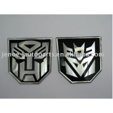 Transformer Chrome Emblems SMALL PAIR
