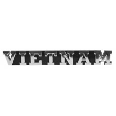 VIETNAM Triple Chrome Plated Adhesive ABS Emblem