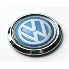 V German Car W Chrome Emblem Decal 3D Domed Sticker