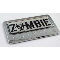 Zombie Edition 3D Chrome Auto Emblem