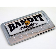 bandit edition chrome auto car badge