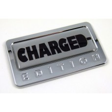 charged special edition adhesive chrome emblem