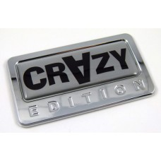 crazy special edition adhesive chrome emblem