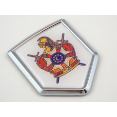 de molay shield 3D CREST Chrome Emblem