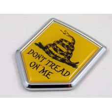 dont tread on me shield chrome auto car badge