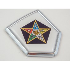 eastern star shield 3D CREST Chrome Emblem