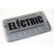 electric special edition adhesive chrome emblem