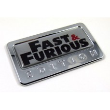 fast and furious special edition adhesive chrome emblem