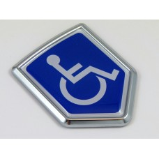 handicap crest 3D chrome automobile emblem