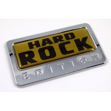 hard rock gold special edition adhesive chrome emblem
