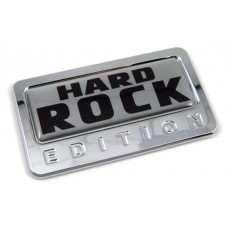 hard rock silver special edition adhesive chrome emblem