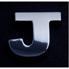 Small Chrome Letters J