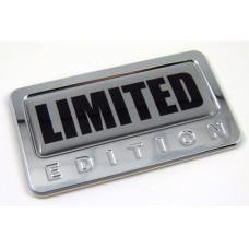 limited special edition adhesive chrome emblem
