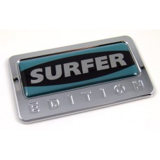 surfer special edition adhesive chrome emblem